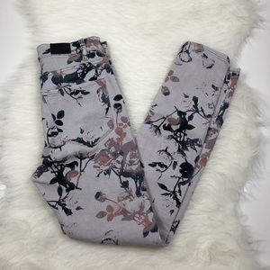 Urban outfitters, BDG Floral High Rise Ankle Jeans